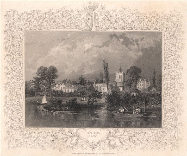 Associate Product 'Bray, Bucks'. Now in Berkshire. Decorative view by William TOMBLESON 1835