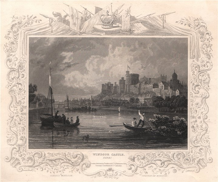 Associate Product 'Windsor Castle'. Berkshire. Decorative view by William TOMBLESON 1835 print