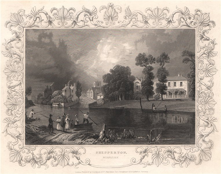 Associate Product 'Shepperton'. Surrey. Decorative view by William TOMBLESON 1835 old print