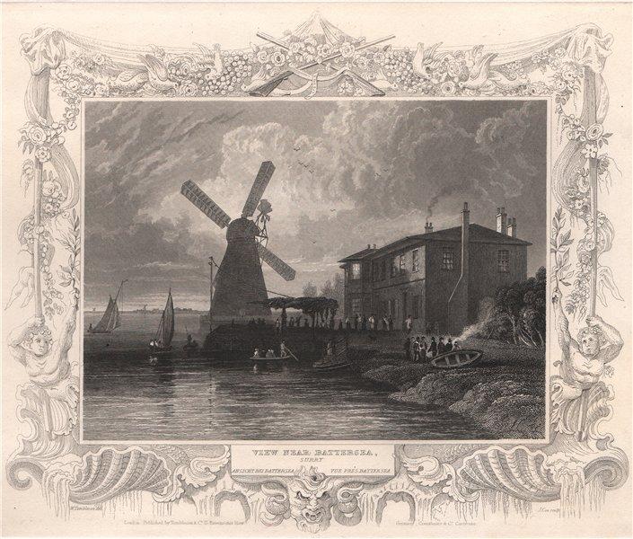 Associate Product 'View near Battersea, Surry'. London. Decorative view by Wm TOMBLESON 1835