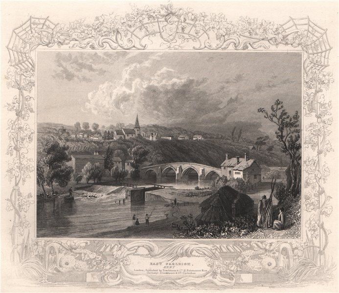 Associate Product 'East Farleigh, Kent'. Decorative view by William TOMBLESON 1835 old print