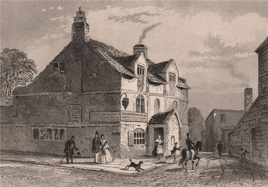 Associate Product Bowling Green Inn, Mount Pleasant, Liverpool. Wm Roscoe birthplace. DUGDALE 1845
