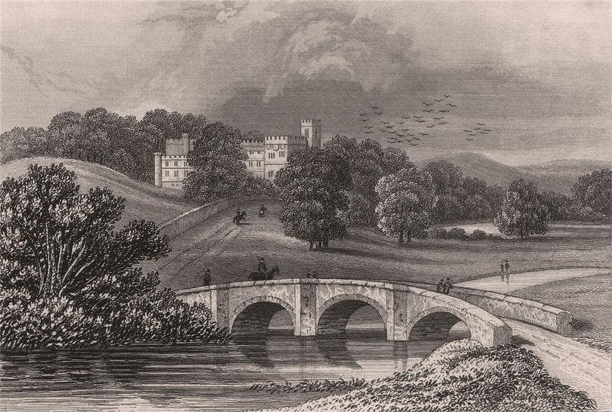 Associate Product Haddon Hall, Derbyshire. DUGDALE 1845 old antique vintage print picture