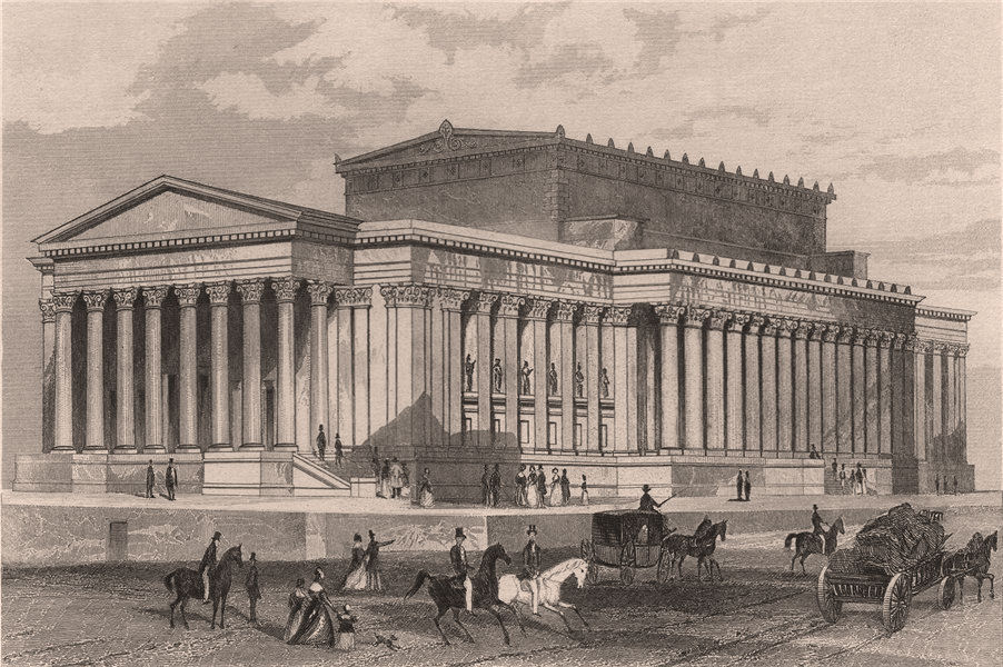 The New Assize Courts, and St. Georges Hall, Liverpool. Lancashire. DUGDALE 1845