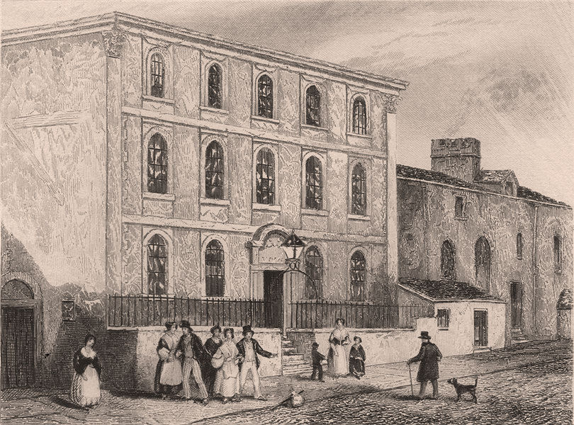 Associate Product Birthplace of Lord Eldon, Newcastle-upon-Tyne, Northumberland . DUGDALE 1845