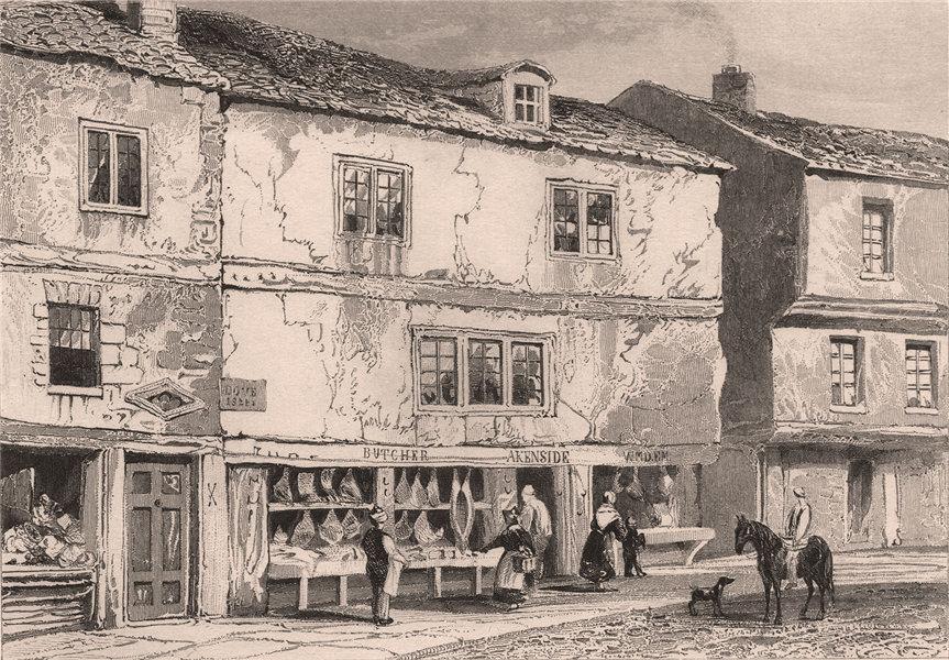 Associate Product Mark Akenside's birthplace, Butcher Bank, Newcastle-upon-Tyne. DUGDALE 1845