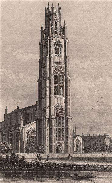 Associate Product Boston Church Lincolnshire. DUGDALE 1845 old antique vintage print picture