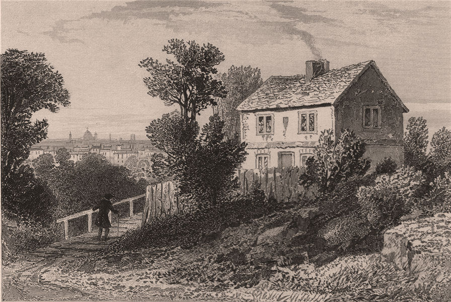 Associate Product Haverstock Hill. Residence of Sir Richard Steele. Hampstead. DUGDALE 1845