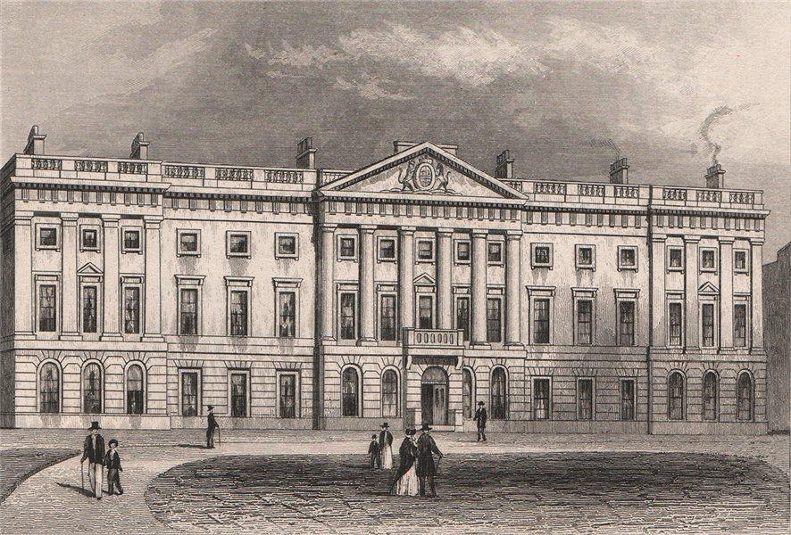 Associate Product Royal Mint, Tower Hill, London. DUGDALE 1845 old antique vintage print picture