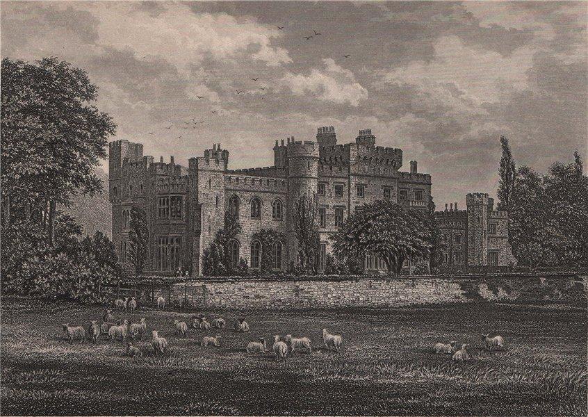 Associate Product Hawarden Castle, Wales 1898 old antique vintage print picture