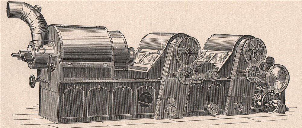 TEXTILE MANUFACTURE. Opener 1898 old antique vintage print picture