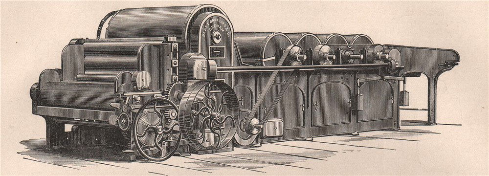 Associate Product TEXTILE MANUFACTURE. Three-cylinder Opener, Beater, and Lap Machine 1898 print