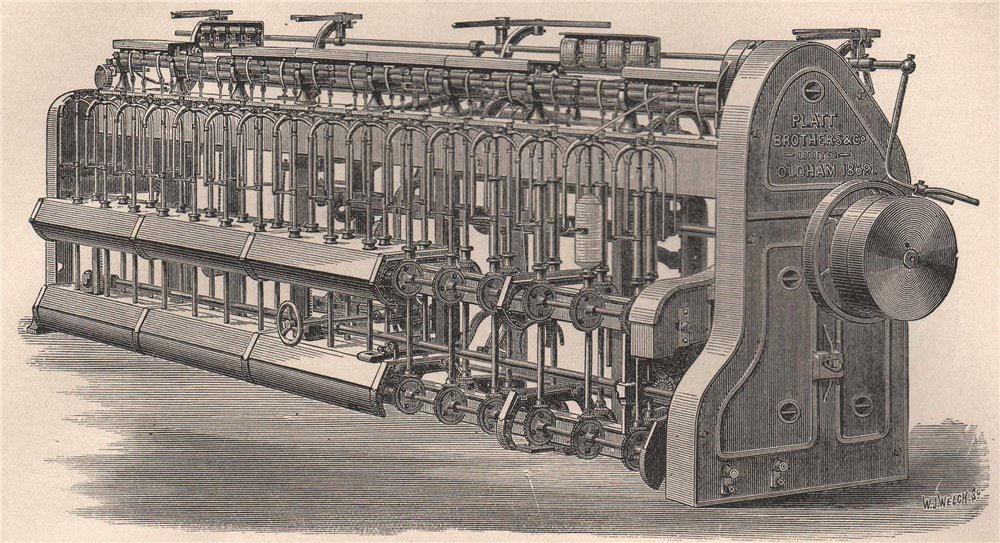 Associate Product TEXTILE MANUFACTURE. Slubbing Frame 1898 old antique vintage print picture