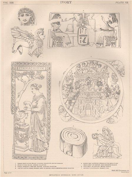 Associate Product IVORY. Nineveh collection, British Museum. Mammoth Pieta Roman 1898 old print