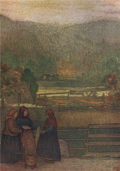 Associate Product STØREN Storen. Women selling berries by Nico Jungman. Norway 1905 old print