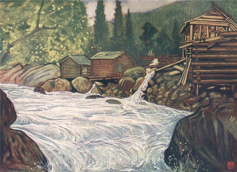 Associate Product HAUKELI. 'River at Haukeli' by Nico Jungman. Norway 1905 old antique print