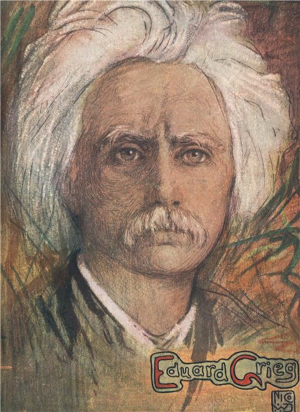 Associate Product 'Eduard Grieg' by Nico Jungman. Norway 1905 old antique vintage print picture