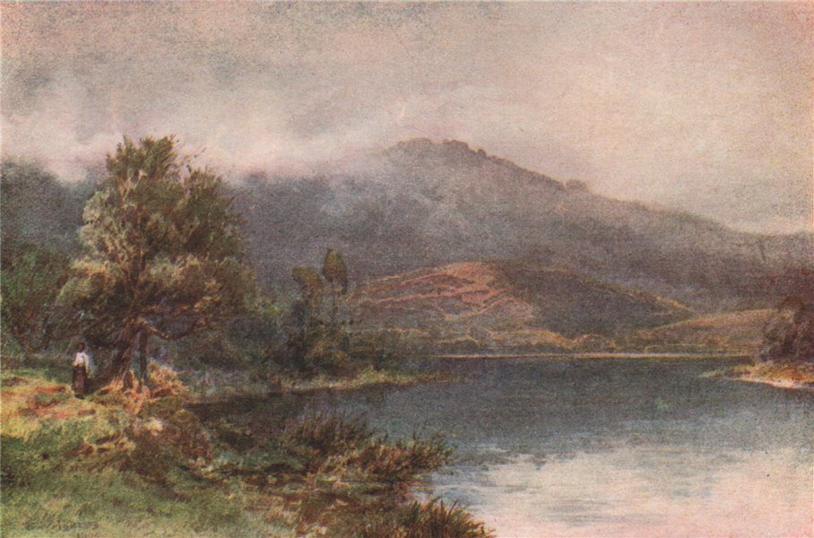 Associate Product 'The Waikato at Ngaruawahia' by Frank Wright. New Zealand 1908 old print