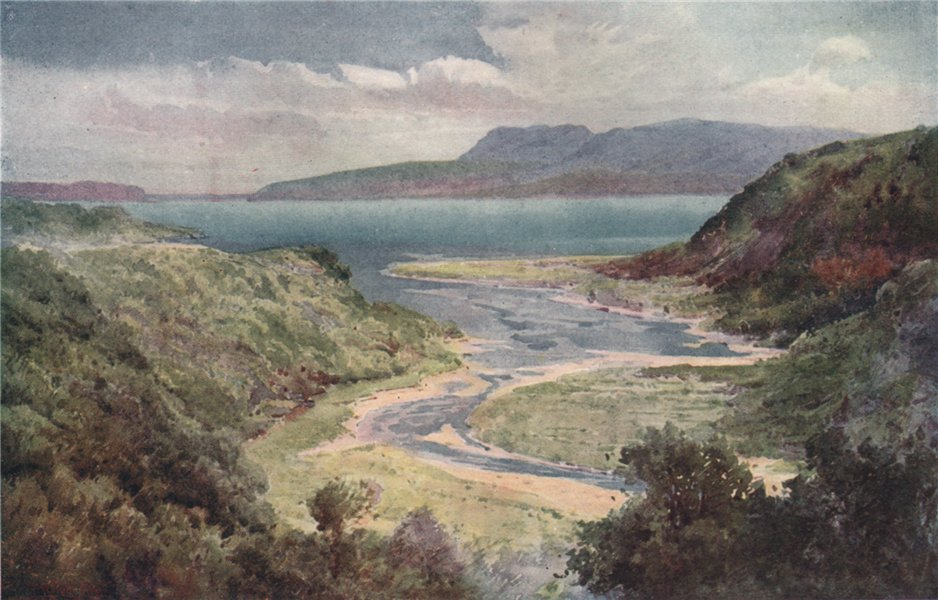 Associate Product 'Lake and Mount Tarawera' by Frank Wright. New Zealand 1908 old antique print