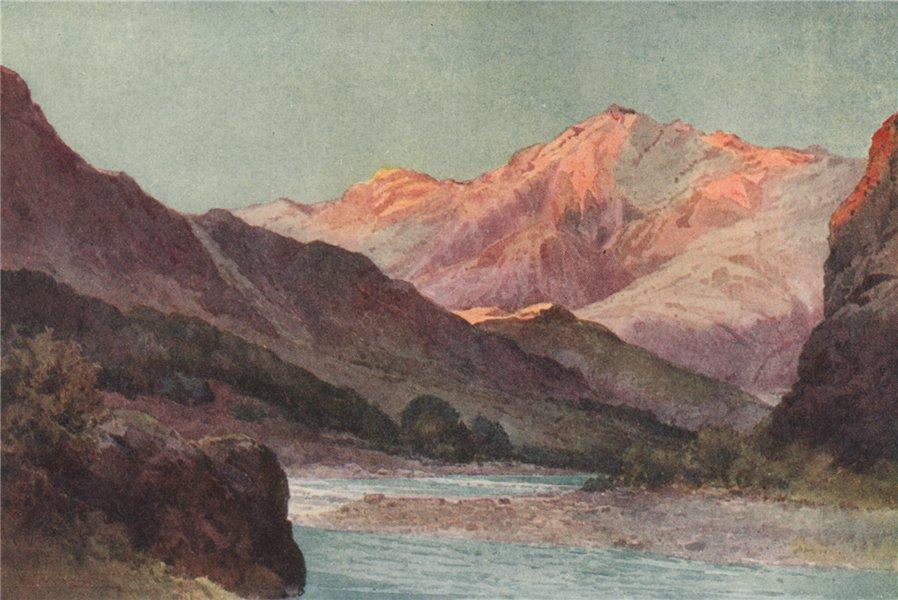 Associate Product MARLBOROUGH. 'Wairau Gorge' by Frank Wright. New Zealand 1908 old print