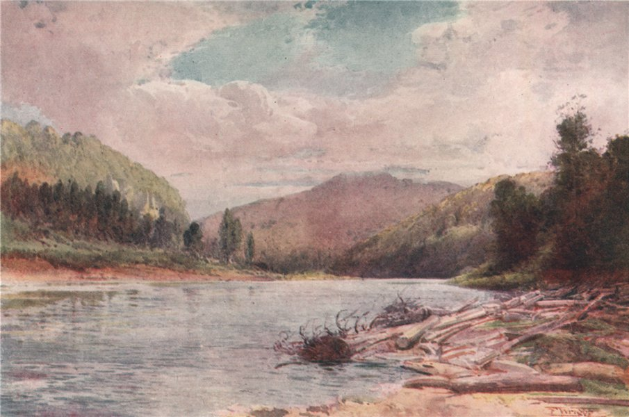 Associate Product 'Buller and Inangahua Rivers' by Frank Wright. New Zealand 1908 old print