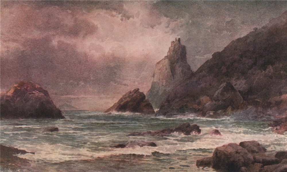 Associate Product 'Bream Head, Whangarei Heads' by Frank Wright. New Zealand 1908 old print