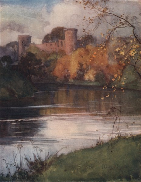 Associate Product SOUTH LANARKSHIRE. 'Bothwell Castle' by Mary Young-Hunter. Scotland 1907 print