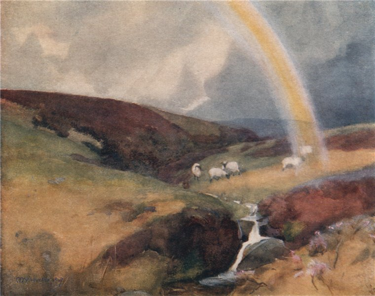 Associate Product 'The source of the Clyde' by Mary Young-Hunter. Scotland 1907 old print