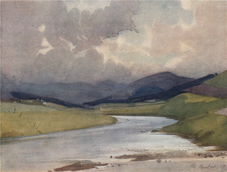 Associate Product ABINGTON. 'Where Duneaton joins the Clyde' by John Young-Hunter 1907 old print