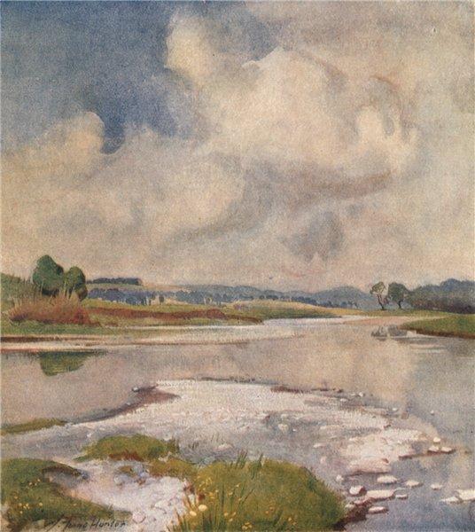 Associate Product SOUTH LANARKSHIRE. 'The river at Lamington' by John Young-Hunter 1907 print