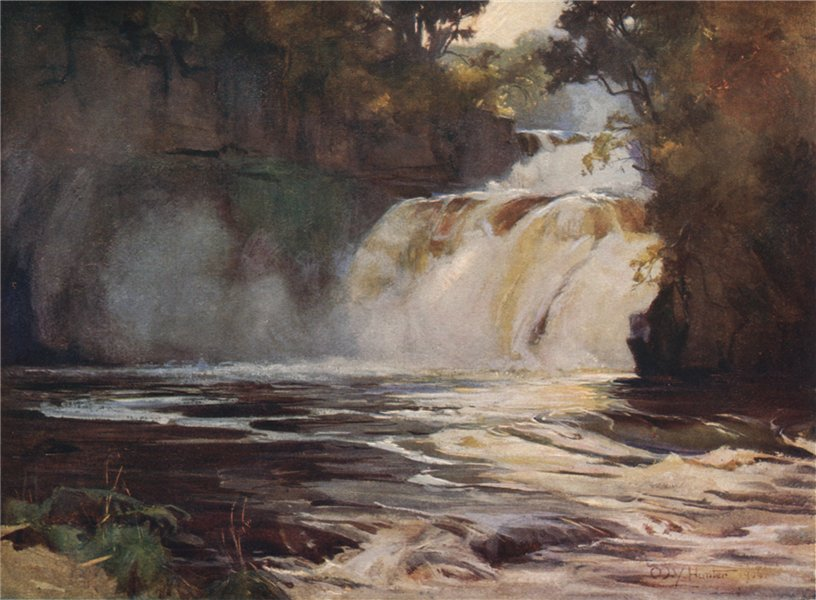Associate Product THE FALLS OF CLYDE. 'Corra Linn' by Mary Young-Hunter. Scotland 1907 old print