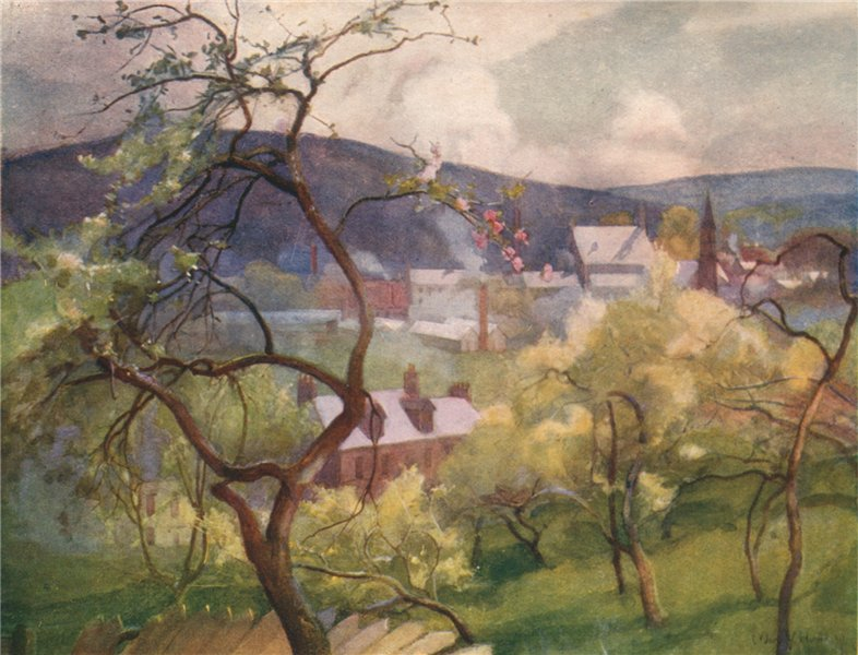 Associate Product LANARKSHIRE. 'Crossford from the orchards' by Mary Young-Hunter 1907 old print