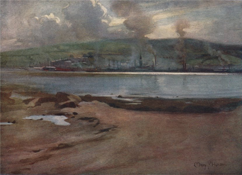 Associate Product GREENOCK. 'Port-Glasgow from Cardross' by Mary Young-Hunter. Scotland 1907