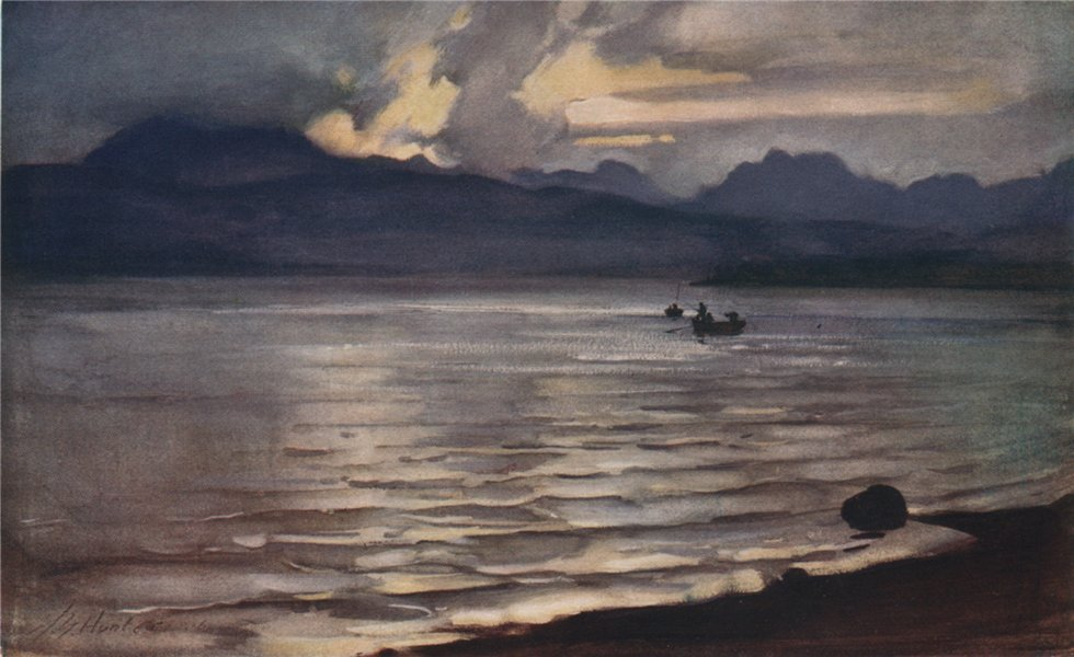 Associate Product GARE LOCH. 'The Gareloch' by John Young-Hunter. Scotland 1907 old print
