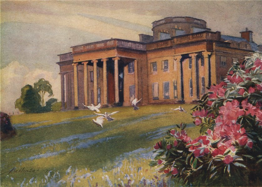 Associate Product ARGYLL AND BUTE. 'Rosneath House' by John Young-Hunter. Scotland 1907 print