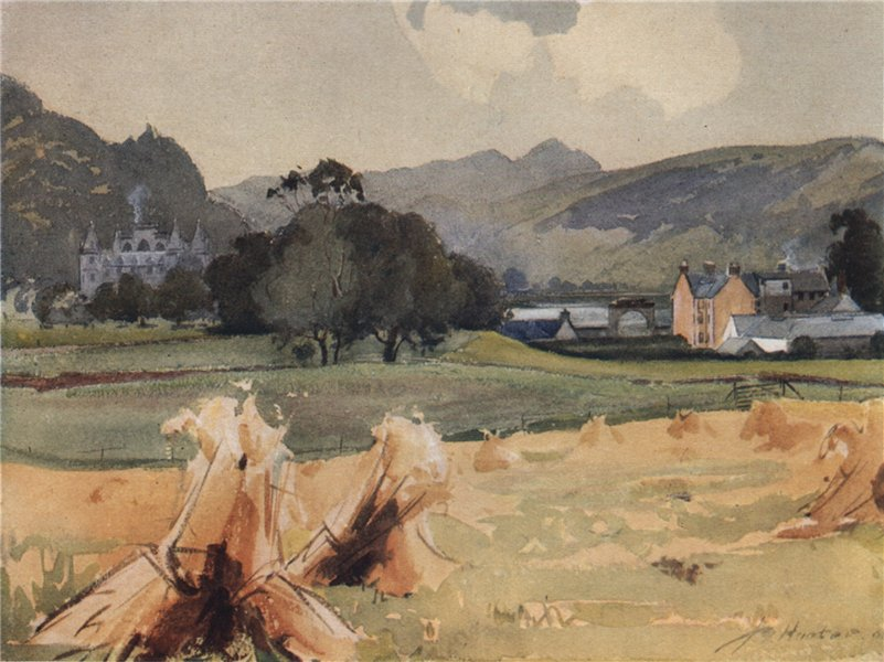 Associate Product ARGYLL AND BUTE. 'Inveraray Castle' by John Young-Hunter. Scotland 1907 print