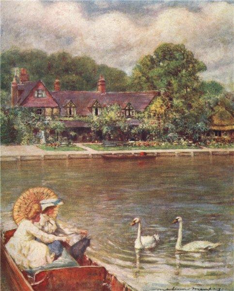 Associate Product STREATLEY. 'Streatley Inn' by Mortimer Menpes. Berkshire 1906 old print