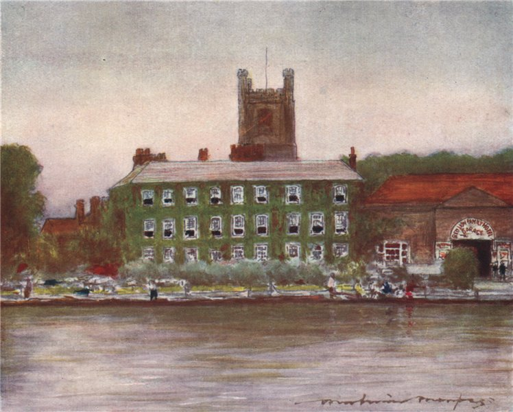 Associate Product 'Red Lion Hotel, Henley' by Mortimer Menpes. Oxfordshire 1906 old print