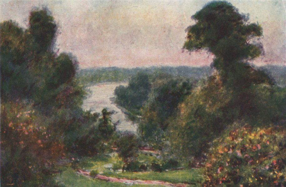 Associate Product RICHMOND. 'View from Richmond Hill' by Mortimer Menpes. London. SMALL 1906
