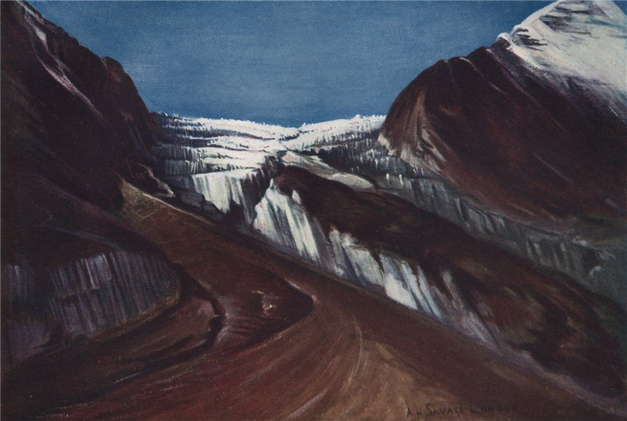 Associate Product 'Elfrida Landor Glacier, Nepal' by Arnold Henry Savage Landor. Nepal 1905