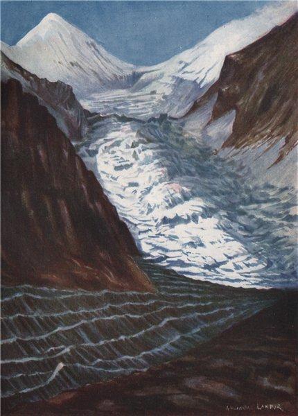 Associate Product 'The Armida Landor Glacier, Nepal' by Arnold Henry Savage Landor. Nepal 1905