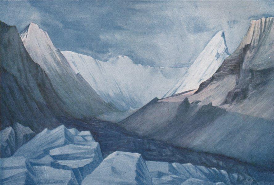 Associate Product 'Lumpa Basin and Charles Landor Glacier'. Arnold Henry Savage Landor. Nepal 1905
