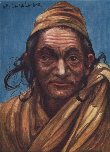 Associate Product 'A weird old man of N.W. Nepal' by Arnold Henry Savage Landor. Nepal 1905