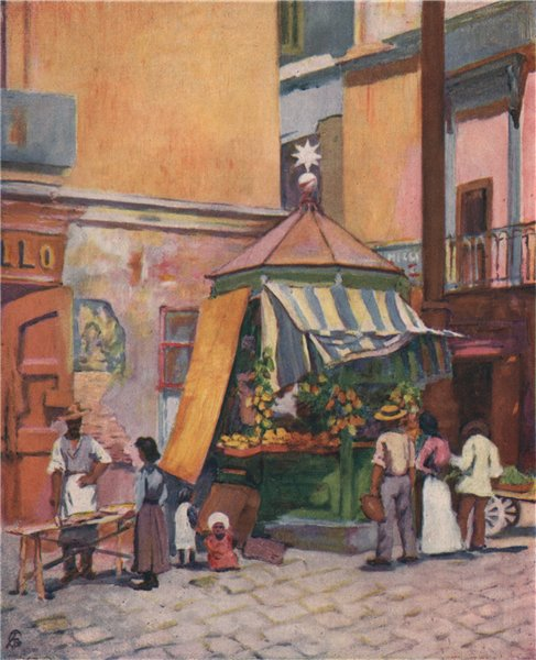 Associate Product NAPOLI. 'On the marina, Naples' by Augustine Fitzgerald. Naples 1904 old print