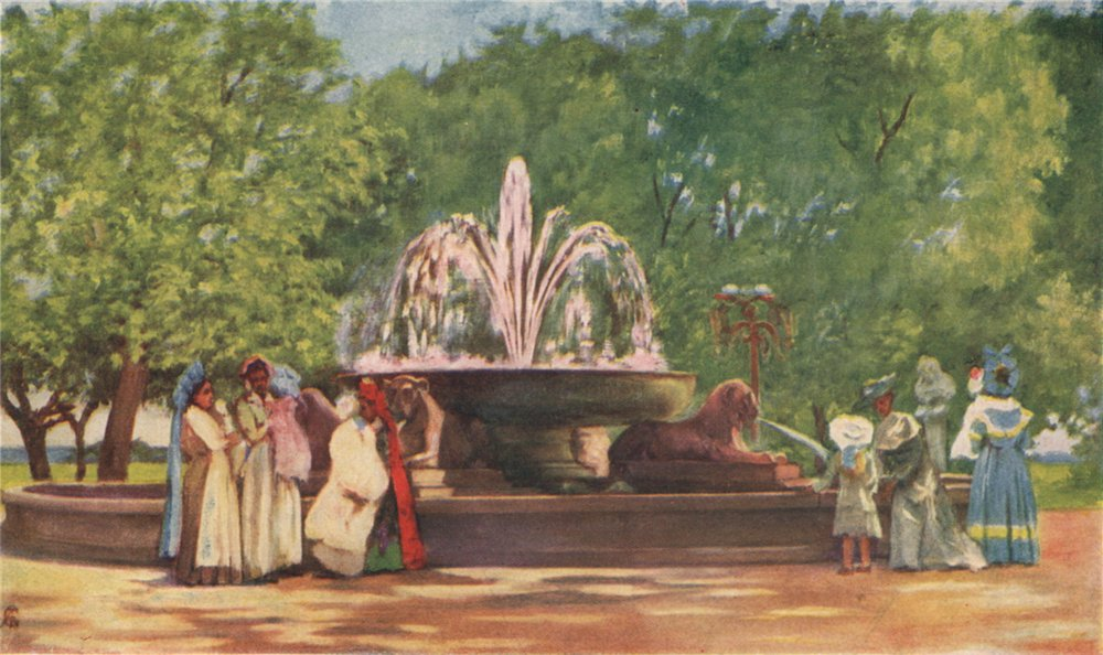Associate Product 'Fountain of Papparella, Villa Nazionale of Naples' by Augustine Fitzgerald 1904