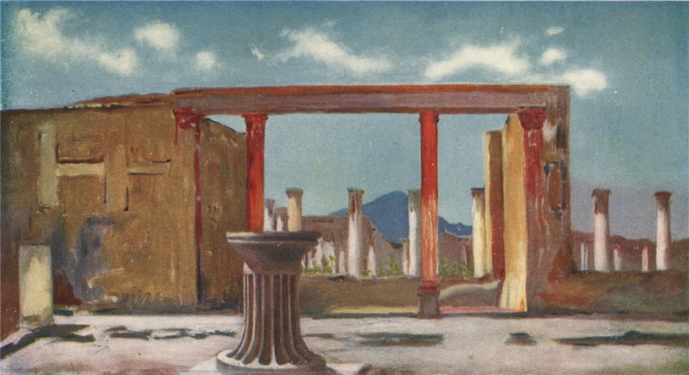Associate Product 'House of the Faun, Pompeii' by Augustine Fitzgerald. Pompeii 1904 old print