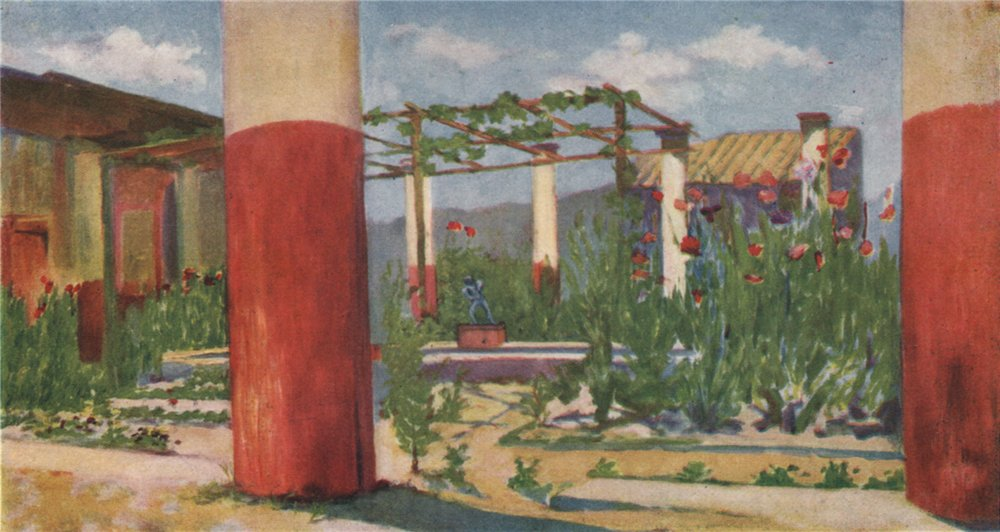 Associate Product 'House of the Drunken Faun, Pompeii' by Augustine Fitzgerald. Pompeii 1904