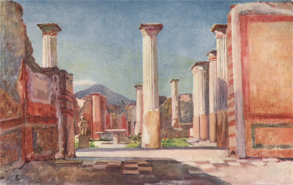 Associate Product 'House of Olconius, Pompeii' by Augustine Fitzgerald. Pompeii 1904 old print