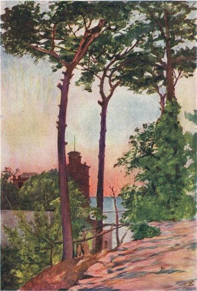 Associate Product SORRENTO. 'The Villa Crawford' by Augustine Fitzgerald. Italy 1904 old print