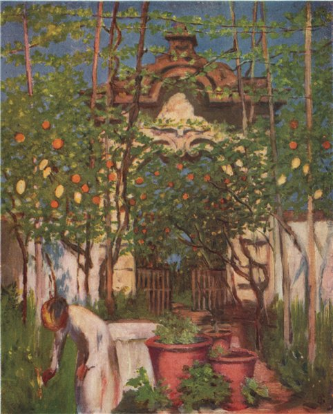 Associate Product SORRENTO. 'Old Garden Gateway, Sorrento' by Augustine Fitzgerald. Italy 1904